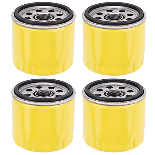 Anzac KH-52-050-02-S KH-25-050-25-S Oil Filter for LT1045 LT1050 LTX1045 LTX1050 YTH21K46 STX46 Lawn Tractor Oil Filter 4Pack
