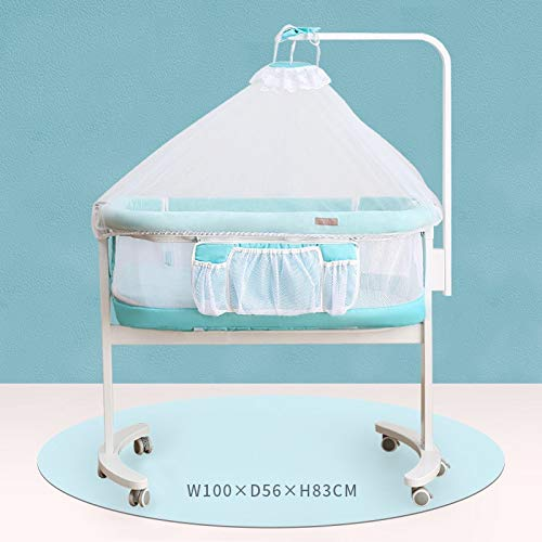 Best Price Yankuoo Portable Multi-Functional Crib, 360 Degree Steering Mobile Side Sleeping Crib, Ch...