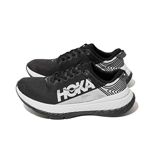 HOKA ONE ONE Women's Carbon X Running Shoe (Black Cloud/Nimbus Cloud, 11)