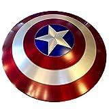 Getrichar Capitán América Escudo ABS Barra de plástico Decoraciones para Colgar en la Pared Accesorios de Disfraces de Halloween Superhéroe Up Accesorios Retro Juguete para Adultos y niños