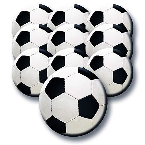 Polarkind 10 stuks XXL decoratieve magneet set voetbal voor koelkast whiteboards magneetbord memobord handgemaakte decoratie 59mm