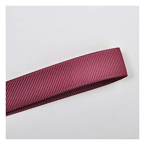 JIWEIER Cinta de regalo de boda para embalaje de dulces, cinta de color sólido con rosca de 3 mm, color rojo (tamaño: 177)