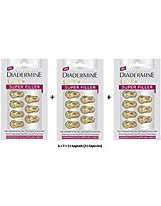 Diadermine Lift+ Super Filler Vikbar Uppfyllande Anti-Age Soffort-effekt Kapslar för ansikte och hals - 21 kapslar (3 förpackningar med 7 kapslar)