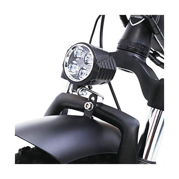Electric Bikes GUNAI Electric Snow Bike 500W 20 Inch Folding Mountain Bike with 48V 15AH Lithium Battery and Disc Brake