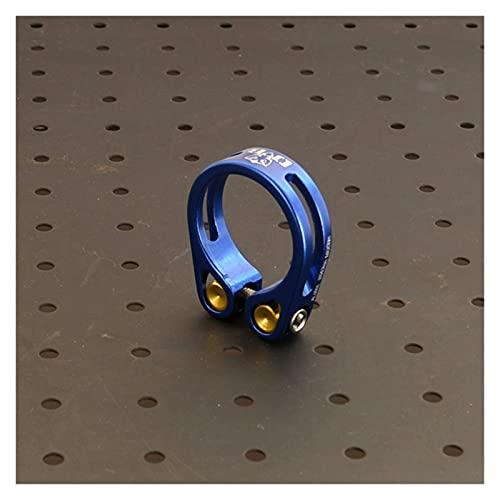 Abrazadera Sillin Abrazadera de Asiento de Bicicleta 34.9mm CNC mecanizado de un Solo Perno de diseño Cierre Tija Sillin 34.9 (Color : Blue)