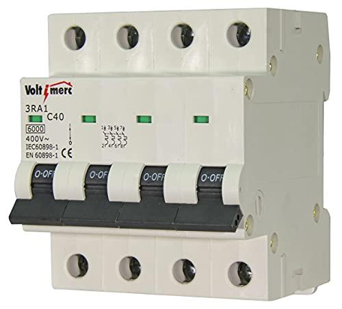 Voltimerc Interruptor Magnetotérmico 4 Polos 40A 6KA