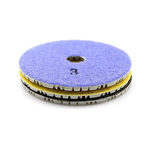 KJBGS Almohadilla de Pulido 3 Piezas de 100 mm Diamante Flexibles Almohadillas de Pulido seco en seco 3 Paso de Esmalte de Piso para baldosas de mármol de Piedra Conveniente y Duradero