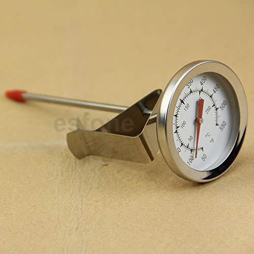 Yiwann Keuken Koken Thermometer, Nieuwste Precise True Nuttige Temp RVS Vleesthermometer met Grote Wijzerplaat