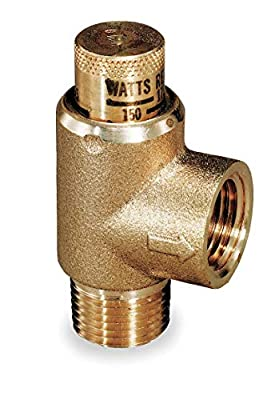 WATTS Brass Calibrated Adjustable Relief Valve, MNPT Inlet Type, FNPT Outlet Type from CAI - WATTS