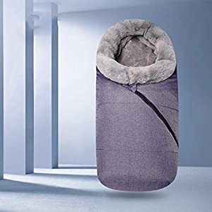 LTSWEET Sacos de Abrigo Universal Carritos Saco de Silla Espesar Invierno Térmica Moda Outdoor Windproof Impermeable…