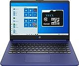2021 HP Stream 14inch HD Display,Intel Celeron N4020 Dual-Core Processor, 4GB DDR4 Memory,128GB Storage(64GB eMMC+64GB TECL Card) WiFi, Webcam, Bluetooth, HDMI,1-Year Microsoft 365 Win10 S Indigo Blue