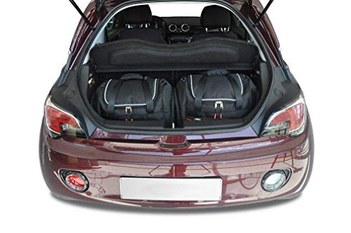 KJUST Dedizierte Kofferraumtaschen 2 STK Set kompatibel mit OPEL ADAM I 2012 -