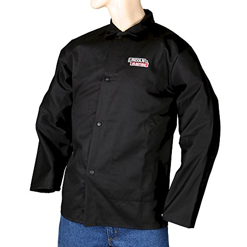 Lincoln Electric KH808XXL Black XX-Large Flame-Resistant Cloth Welding Jacket
