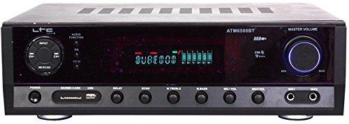 Ltc 10-7053 Hi-Fi stereo versterker met Bluetooth en karaoke, 50W/20W zwart