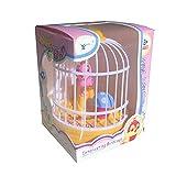 WZDTNL Luz de inducción de control de voz, jaula de pájaros de setas de loros de simulación de música