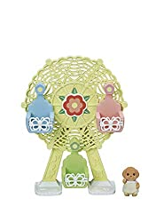 A Ferris Wheel for the baby figures Includes one figure: Toy Poodle Baby Up to 3 babies can sit aboard the Ferris Wheel Good for stimulating imaginative role-play in children Well-made with fine attention to detail