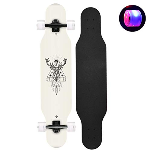 HYE-SPORT Skateboard Freestyle Longboard Skateboard 42 Zoll Lang X 9 Zoll Wide Deck Ahorn Tanzen Longboard Für Erwachsene, Jungen/Mädchen/Jugendliche Maximal 330 Pfund, Standard-Skateboards
