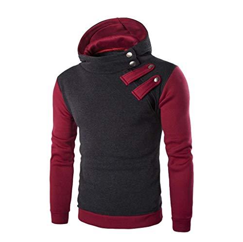 Homme Sweat-Shirt à Capuche Manches Longues Pulls Sweat Capuche Tops Veste Manteau Hoodie Hiver épais Manteau Chaud Covermason