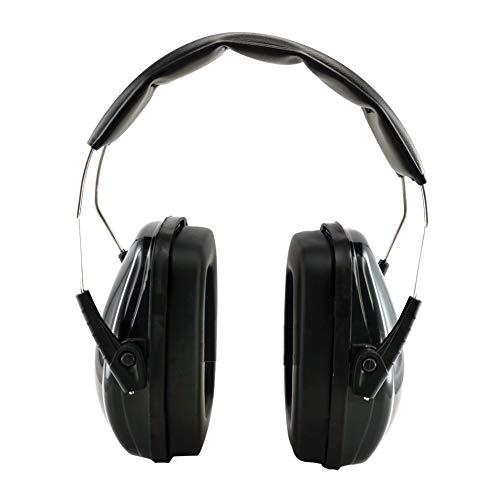 防音イヤーマフ 遮音値34dB 聴覚保護 ANSI S3.19&CE EN352-1認証済み 超弾力性ヘッドバンド 軽量 大人・子供兼用 聴覚過敏・射撃 ・仕事・勉強などに適用 レッド (Black)