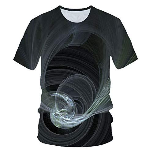 GEDASHU 3D T-Shirt 3D Smog Print T-Shirt Lustige T-Shirts Slim Fit Harajuku T-Shirt Männer Streetwear Kurzarm T-Shirt Männer 6XL