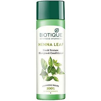 Biotique Henna Leaf Fresh Texture Shampoo and Conditioner, 190ml