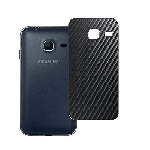 Vaxson 2 Unidades Protector de pantalla Posterior, compatible con Samsung Galaxy J1 Mini / J1 Mini prime SM-J105DS, Película Protectora Espalda Skin Cover - Fibra de Carbono Negro