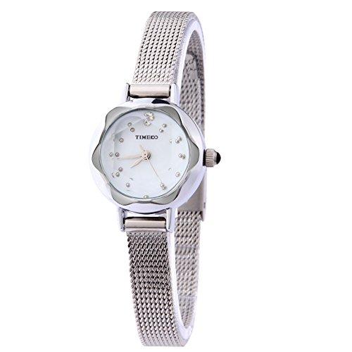 Time100 W50203L.01A W500 - Reloj para mujeres, correa de acero inoxidable color...