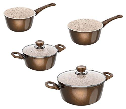 Genius Cerafit Granit - Kochtöpfe (6 Teile) Kochen leicht gemacht mit einer Vielzahl von verschiedenen Töpfen