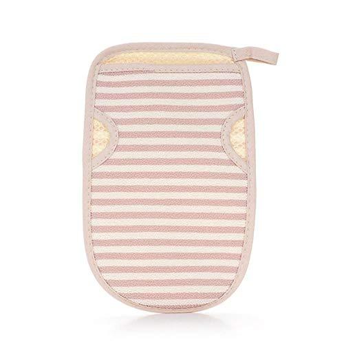 Beidseitig trockene haut duschen verdicken mitten entfernen massagehandschuhe peelingbad abgestorbene haut, pink