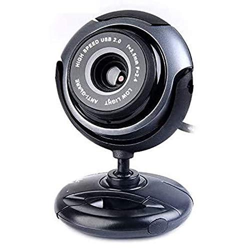 Coxxlloo Full HD Webcam, cámara de flujo USB con el micrófono, por videoconferencia, trabajo en línea, Ministerio del Interior, for los ordenadores portátiles, de escritorio y de juego, Negro Convenie