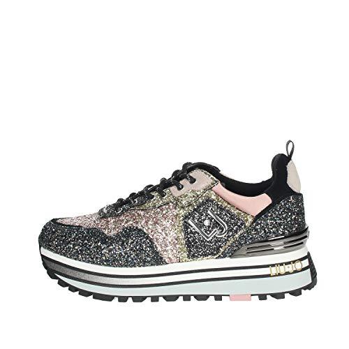 Scarpe Sneaker Liu-Jo Wonder Maxi in Pelle con Glitter Multicolor Donna D21LJ10