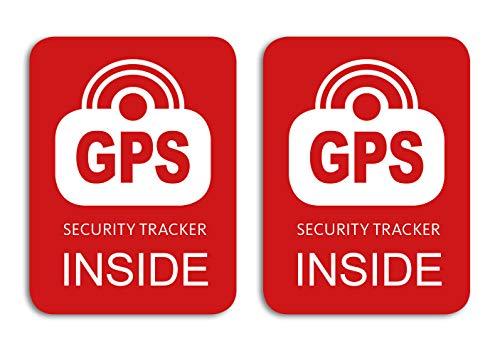 GPS Security Tracker Inside Aufkleber - 2 Stück für das Fahrrad, Bike Sticker - Wetterfest, UV-Beständig …