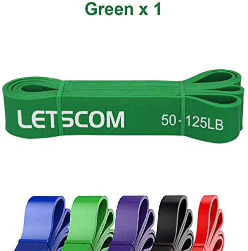 LETSCOM Pull Up Assist Band, Extra Durable Resistance Band, Stretch Band, Elastic Exercise Band for Chin-ups Powerlifting Stretching Mobility Fitness Strength Training Yoga