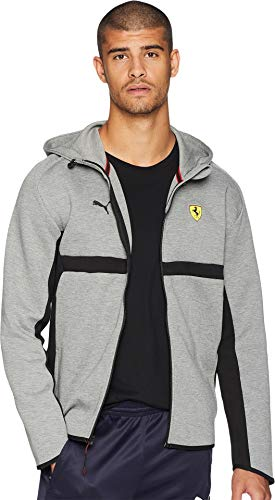Puma Scuderia Ferrari Sweat à Capuche pour Homme Moyen F Medium Gray Heather