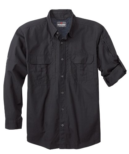 Woolrich Herren Elite Lightweight Operator Tactical Long Sleeve Shirt Small Schwarz