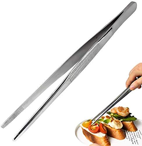 Pinze Cucina Professionale,Ustensiles de Cuisine en Acier Inoxydable et Silicone Alimentaire, Pince de Cuisine Résistant à la Chaleur,Pinzette per Alimenti utensile con Manico Lungo