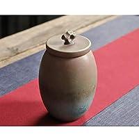 ペットの灰骨壷火葬葬儀埋葬記念品、美しい粗陶器記念骨壷のためにペット小型犬猫ウサギの名残り (Color : B)