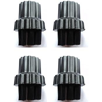 X500 X700 Deals365,/spazzole con setole metalliche per scopa a vapore compatibili con H2O confezione da 2 spazzole in nylon e 2 in filo X5 Grimebuster Aqua Steam 9/in 1
