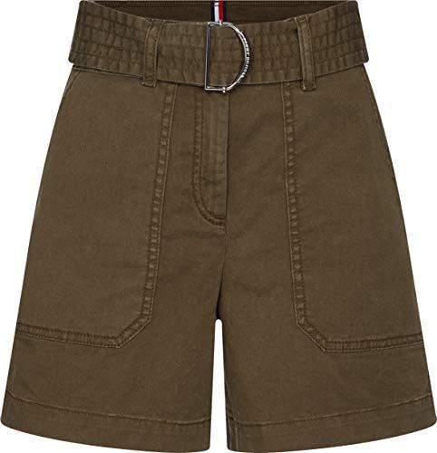Tommy Hilfiger Cotton Twill Shorts Jean Slim, Vert (Army Green Rbn), 42 Femme