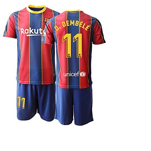 JEEG 20/21 Kinder O.DEMBELE 11# Fußball Trikot Jugend Trainings Anzug T-Shirt Set (Kinder Größe 4-13 Jahre) (28)