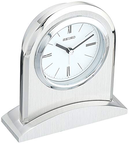 Seiko 5 Contemporary Executive Desk Clock with Alarm