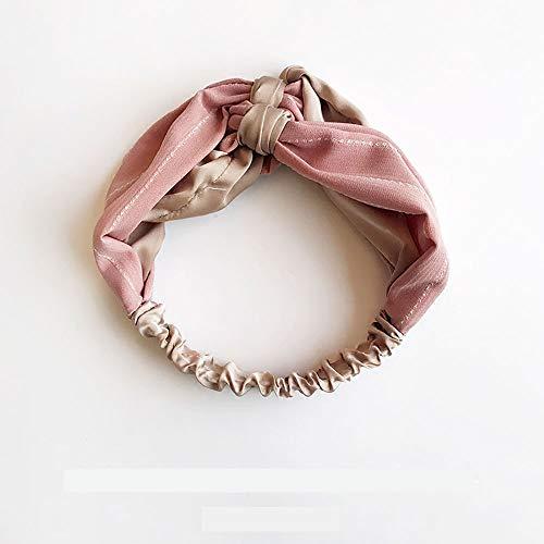 Cerceau pour les cheveux Couvre-chef Bande passante pour les cheveux Edge Stripe Rassemblement mixte bicolore adapté à divers styles de cheveux, Rose