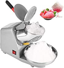 Electric Ice Crusher, 110V Electric Ice Shaver Shaved Ice Machine 187lbs/hour Snow Cone Maker with Double Blades for Home Commercial Use