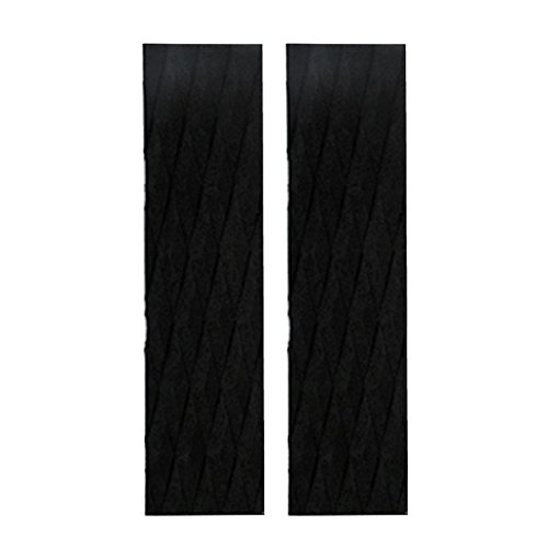 Sharplace 2x2 Pièces EVA Skimboard Traction Pad Bar Grip Surfboard Shortboard Noir