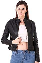 Fasnoya Women Faux Leather Jacket