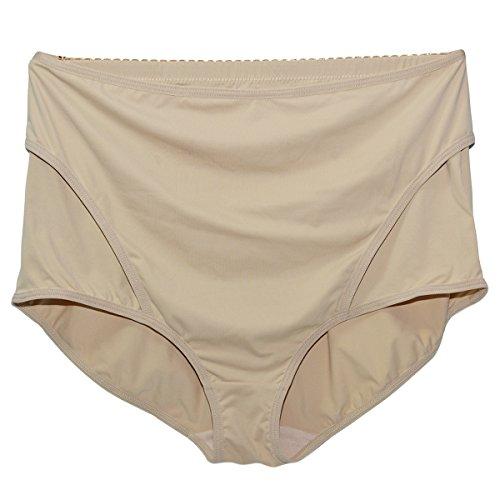 Shymay Women's Panty Girdle Adjustable Belly Wrap Postpartum Control Panties, Apricot, Medium