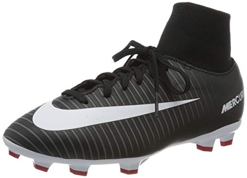 Nike Junior Mercurial Victory VI DF FG Football Boots 903600 Soccer Cleats (UK 4 US 4.5Y EU 36.5, Black White Dark Grey 002)