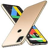Google pixel 4a ケース SHINEZONE pixel4a レンズ保護 耐衝撃 指紋防止 超薄型 超耐磨 軽量 pixel 4a スマートフォンケース (Google pixel 4aケース ゴールド)