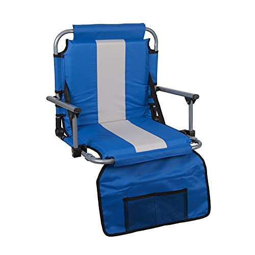 Stansport Folding Stadium Seat with Arms, Blue (19- X17- X5.5-Inch), G-8-50