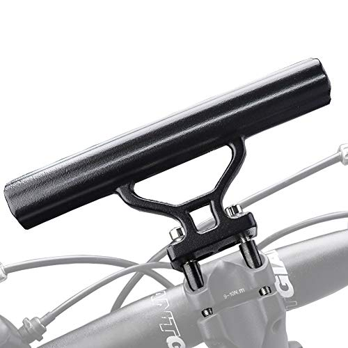 TOPCABIN Bike Handlebar Extender Bicycle Stem Tube Extension for Light Lamp Phone GPS Stopwatch Mount Road Bike MTB Space Save (Black)